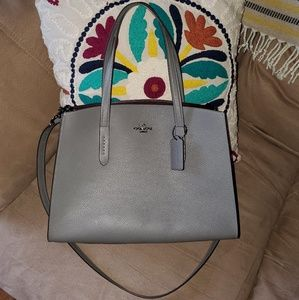 NWOT Coach Charlie Carryall Grey and Oxblood
